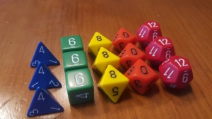 Polyversal 15 Polyhedral Dice